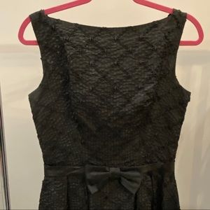 Vintage Black Bateau Cocktail Dress-Audrey Style